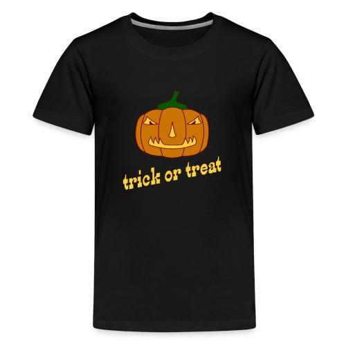 Halloween trick or treat mit Kürbis - Teenager Premium T-Shirt