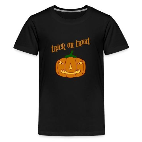 Halloween trick or treat und Kürbis - Teenager Premium T-Shirt