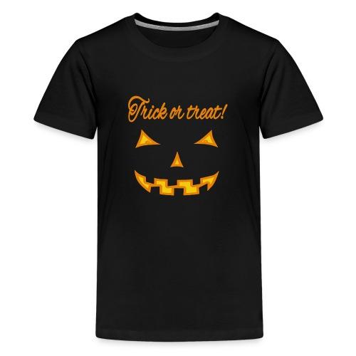 Halloween trick or treat und gruseliges Gesicht - Teenager Premium T-Shirt