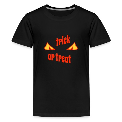 Halloween trick or treat mit Gruselaugen - Teenager Premium T-Shirt