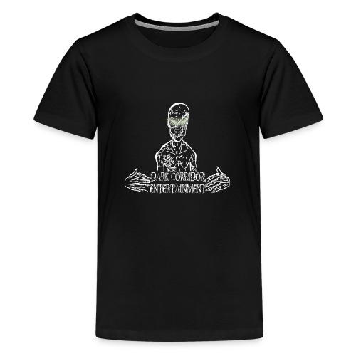 Dark Corridor Logo in Standardgröße mit Schriftzug - Teenager Premium T-Shirt