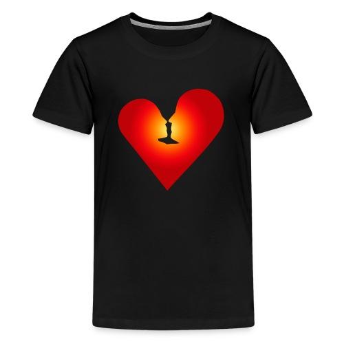 Ein Herz in Liebe - Teenager Premium T-Shirt