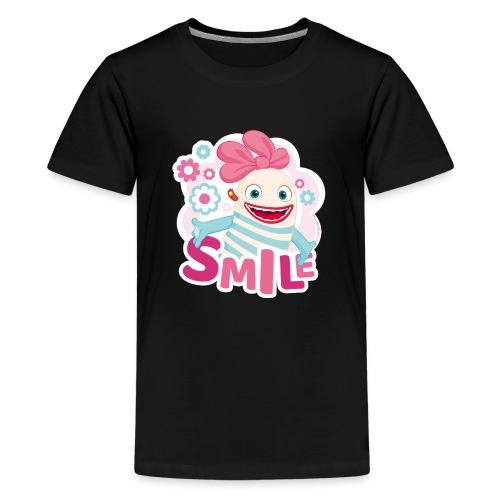 Sorgenfresser Lilli Smile Blümchen - Teenager Premium T-Shirt