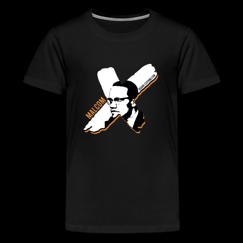 Malcom X - X Letter - Teenager Premium T-Shirt
