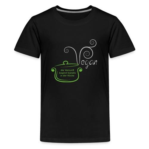 Kochtopf Vegan - Teenager Premium T-Shirt
