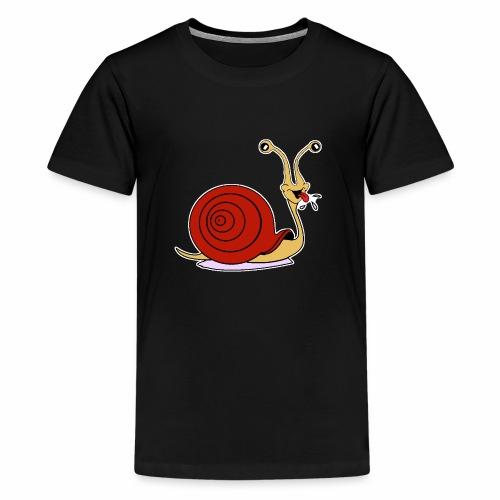 Escargot rigolo red version - T-shirt Premium Ado