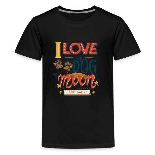 Moon Dog Light - Premium-T-shirt tonåring