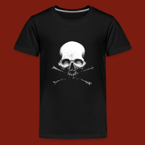Old Skull - Teenage Premium T-Shirt
