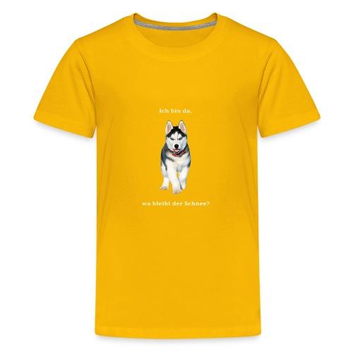 Husky Welpen mit bezaubernden Augen - Teenager Premium T-Shirt