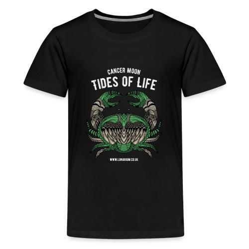 Cancer Moon Dark - Teenage Premium T-Shirt