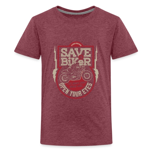 Save A Biker - Teenage Premium T-Shirt