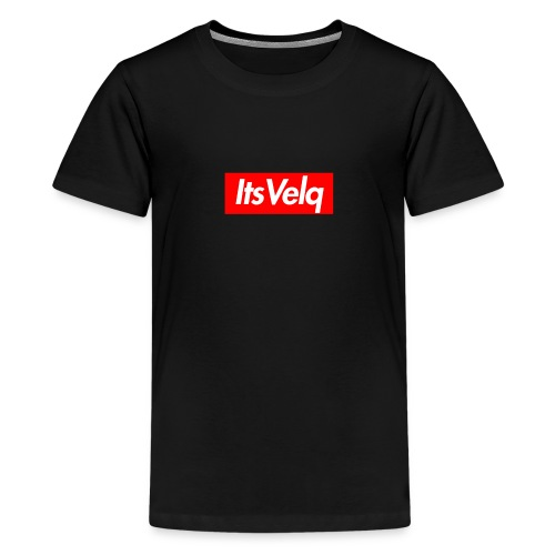Velq Box Logo - Teenage Premium T-Shirt