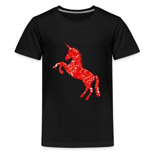 unicorn red - Koszulka młodzieżowa Premium