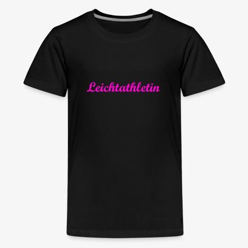 Leichtathletin - Teenager Premium T-Shirt