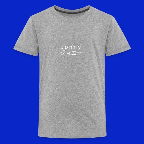 J o n n y (white on black) - Teenage Premium T-Shirt