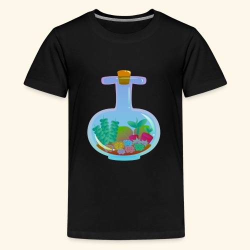 Bottled Succulents - Teenage Premium T-Shirt