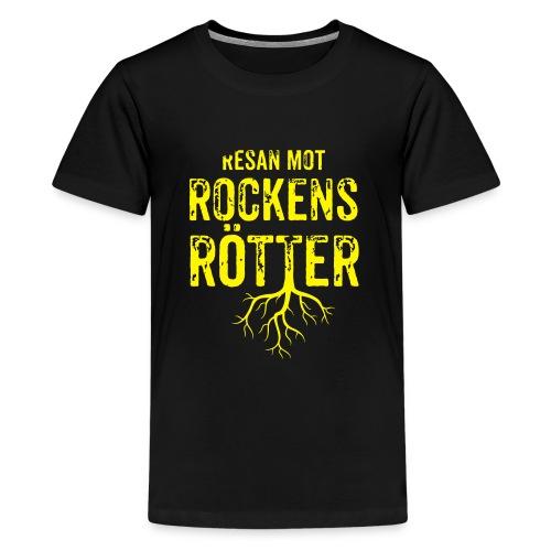 Fotbollströja svart. Resan mot rockens rötter. - Premium-T-shirt tonåring