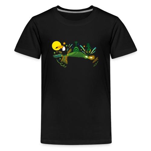 Brazilian Carnival Carnival in Rio de Janeiro - Teenage Premium T-Shirt