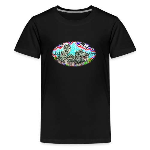 Across the Tracks Blur - Teenage Premium T-Shirt