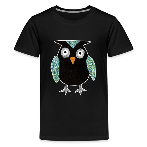 Collage mosaic owl - Teenage Premium T-Shirt