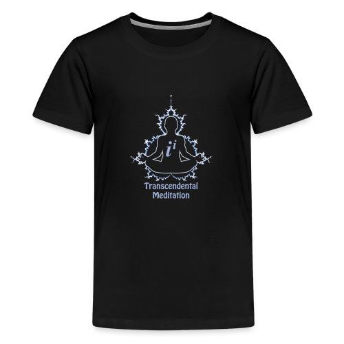 Funny Math Sweatshirt Fractal Transcendental Meditation - Teenage Premium T-Shirt