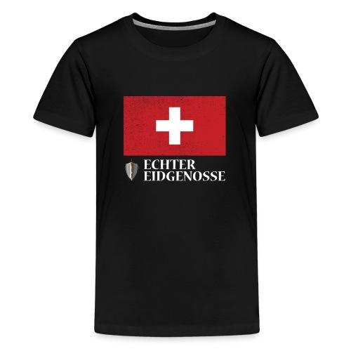 Echter Eidgenosse Schweiz - Teenager Premium T-Shirt