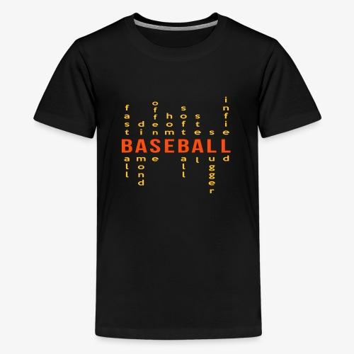 Baseball matrix - T-shirt Premium Ado