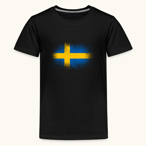 Suède cadeau drôle de drapeau suédois - T-shirt Premium Ado