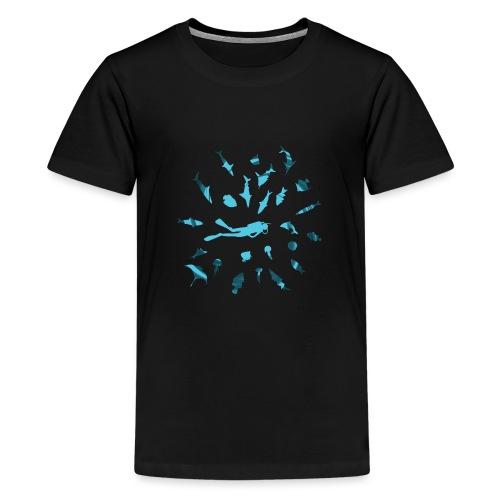 Buceando con Peces - Camiseta premium adolescente