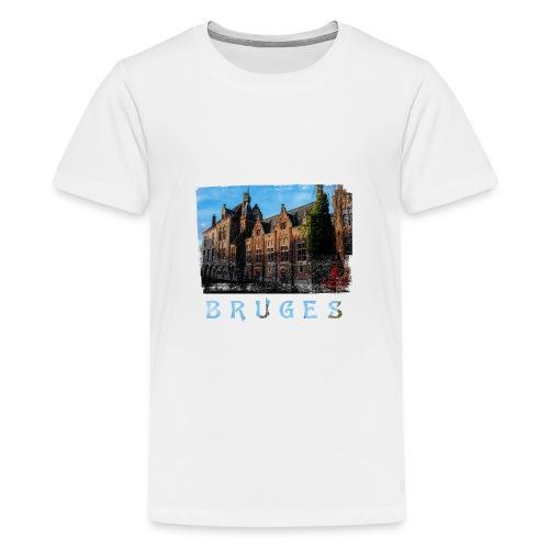 Bruges | Old houses - Teenager Premium T-shirt