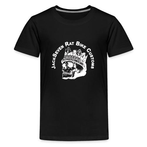 jackseven customs skull bobber chopper caferacer - Teenager Premium T-Shirt