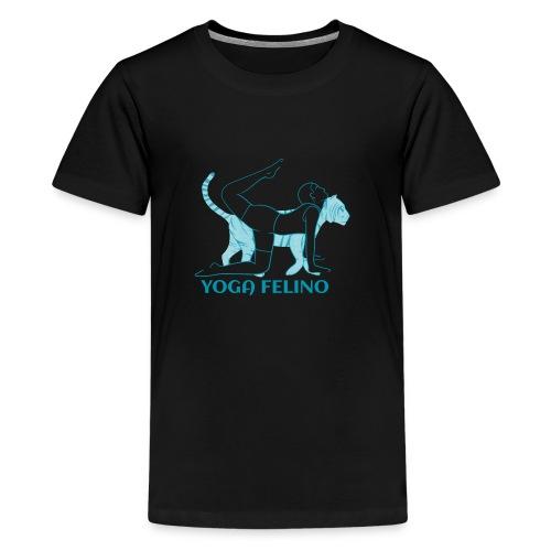 t shirt design YOGA FELINO - Maglietta Premium per ragazzi