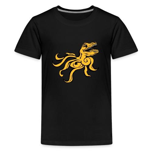 Octorex Dinoface - Teenage Premium T-Shirt