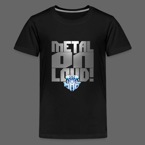 metalonloud large 4k png - Teenage Premium T-Shirt