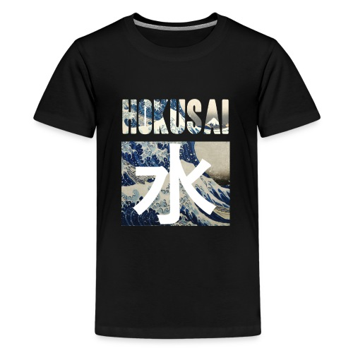 Hokusai Great Wave - Teenage Premium T-Shirt