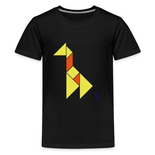 En mode tangram - Giraffe - T-shirt Premium Ado