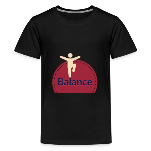 Balance red - Teenage Premium T-Shirt
