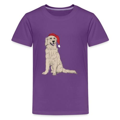 Golden Retriever Christmas - Teenager premium T-shirt