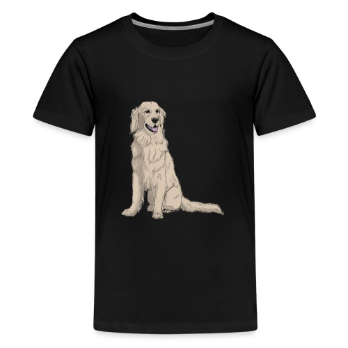 Golden retriever - sit - Teenager premium T-shirt