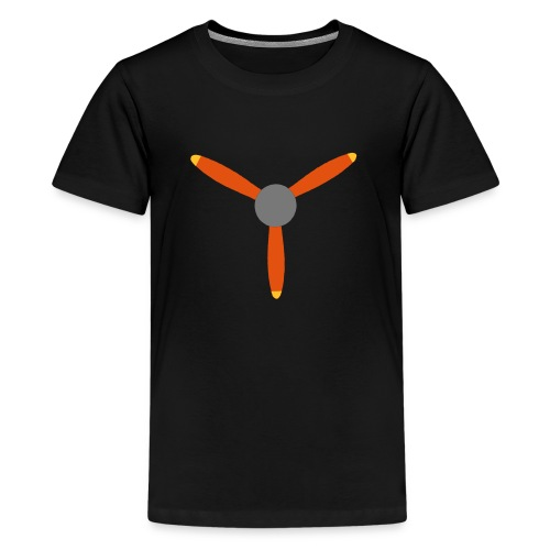 3 blade propeller - Teenage Premium T-Shirt