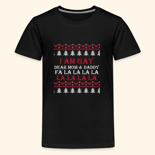 Gay Christmas sweater - Koszulka młodzieżowa Premium