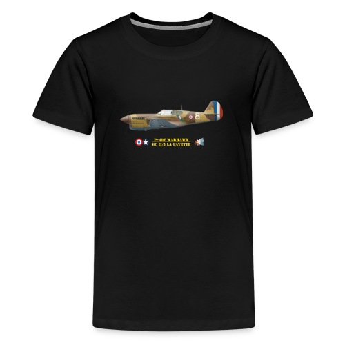 P-40 Warhawk La Fayette - Teenage Premium T-Shirt