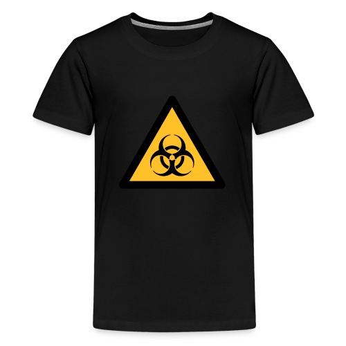 Hazard Symbol - Biohazard (2-color) - Teenage Premium T-Shirt