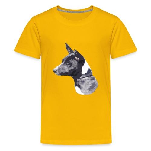 basenji black - Teenager premium T-shirt