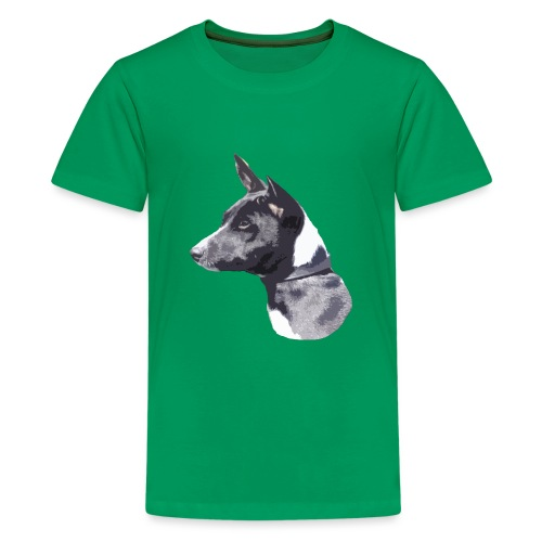 basenji black - Teenager premium T-shirt