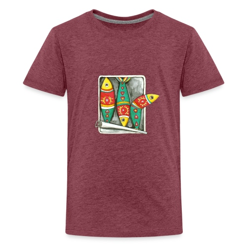 Les sardines du Portugal - T-shirt Premium Ado