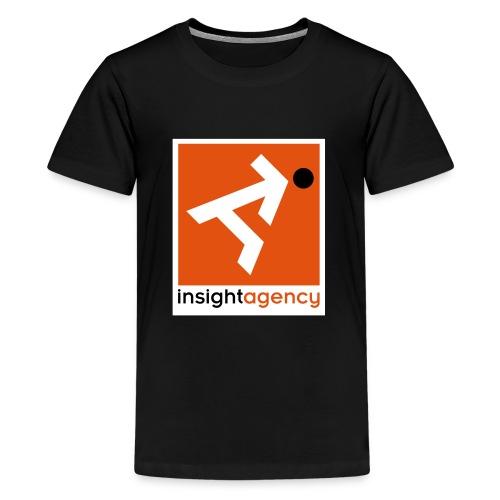 insight quadrato con lettering - Maglietta Premium per ragazzi