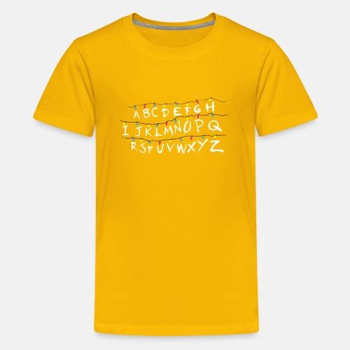 Stranger Things Alphabet - Teenager Premium T-Shirt