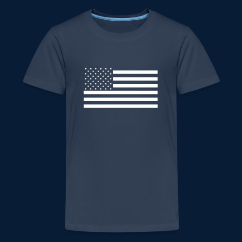 Stars and Stripes White - Teenager Premium T-Shirt