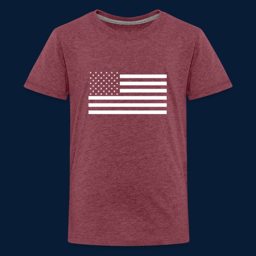 Stars and Stripes White - Teenager Premium T-Shirt